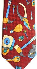 "Renaissance Men's Novelty Polyester Tie 56.5"" X 3.75"" Tools"