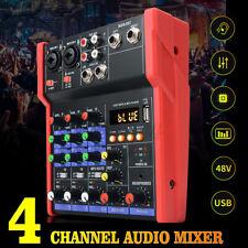 4 Kanal Professional Audio Mischpult USB bluetooth Musik Stereo Mixer Record DE