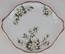 Cake Serving Plate Platter Royal Albert White Dogwood vintage bone china England