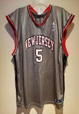 Vintage 00s Jason Kid New Jersey Nets Basketball Jersey NJ Reebok Men's 3XL Gray