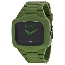 Nixon Stainless Steel covered with Dark Green Rubber Mens Watch A139-1042