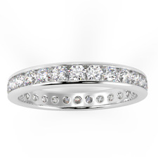 1.00Ct Round Diamond Channel Set Full Eternity Ring made in Platinum