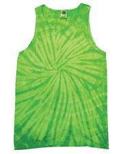Colortone Tie-dye Tank Top Spiral Lime 2xl
