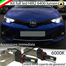 KIT FULL LED HIR2 HIR TOYOTA AURIS E18 6000K BIANCO CANBUS 6400 LUMEN NO ERROR