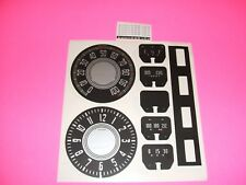 1942 1943 1946  chevy fleetmaster gauges speedometer clock black and silver