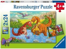 Ravensburger - Dinosaurs at play 2x24 pieces 4+