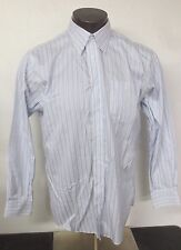 Nordstrom Long Sleeve Button Front Dress Shirt 16 | 34 Cotton White Blue