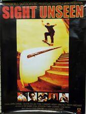 Sight Unseen Skateboard 2001 promo poster Very Good New Old Stock Cardiel Muska