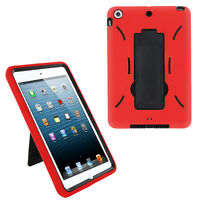 Red Hybrid Shockproof Hard Case Skin Stand for Apple iPad Mini 1 2 3 7.9-inch