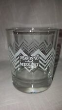 Amaretto Disaronno Wears Missoni ZigZag Limited Edition Etched Glasses (2)11 oz.