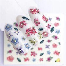 Fashion Pink Flowers Nail Art Small Irregular  Nail Art Decoration Accessorios