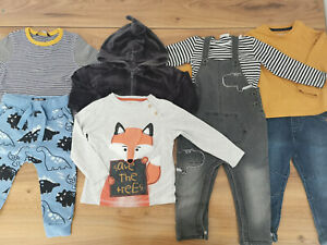 boys 18-24 months bundle autumn winter outfits top dungarees Next F&F George