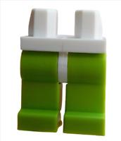 Lego 2 Stück limette (lime) Beine mit weißer Hüfte für Minifiguren 970c34 Neu