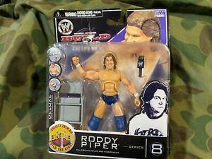 """2007 Rowdy Roddy Piper 3.75"""" WWE Jakks Pacific Build N Brawl MOC"""