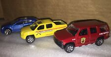 Matchbox Honda Ridgeline W/ Hitch Chevy Tahoe Fire Watch & Cadillac CTS DC 1:64