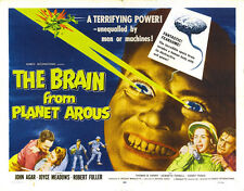 """Brain From Planet Arous Movie Poster Replica 14 x 11"""" Photo Print"""