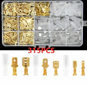 315PCS 2.8/4.8/6.3mm Wire Connectors Kit Crimp Female/Male Spade Terminals Set