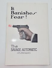 The Savage Automatic Owners Manuel The Banisher of Fear 10 Shots Quick