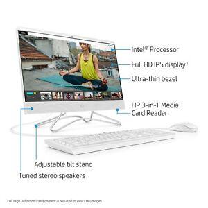"""NEW HP ALL-IN-ONE PC 21.5"""" FHD INTEL G4900T 2.9GHz 4GB RAM 1TB HDD WIN 10 WIFI"""