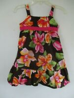 Colorful Pinky Girl's Size 3T 100% Cotton Sleeveless Multicolor Floral Dress
