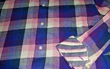 Tailorbyrd Shirt Mens Medium Beautiful Plaid Button Up Contrast Flip Cuff