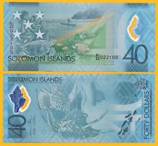 Solomon Islands 40 Dollars p-new 2018 Commemorative UNC Polymer Banknote