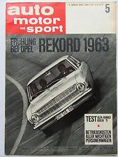 Auto Motor Sport 5/1963, Test: Alfa Romeo Giulia TI, Opel Pekord 1963