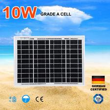 10W Solar Panel Kit 12V Power Caravan Camping Battery Charging Home Garden
