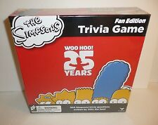 NEW SEALED The Simpsons Cartoon 25th Anniversary Trivia Board Game Fan Edition