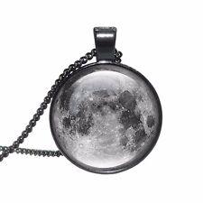 REGNO Unito LUNA PIENA Collana Con Ciondolo GALAXY VETRO catena gioielli idea regalo Spazio Lunar