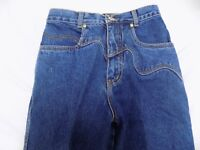 New Vtg Lawman Western Blue Jeans HILLY Denim Slim Fit Boot Cut NOS Jr 3 24X36