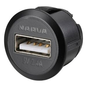 Narva Mini Flush Mount USB Socket Blister Pack 81100BL