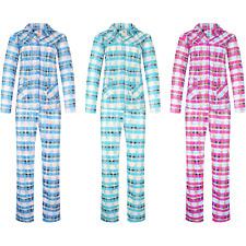 Damen Schlafanzug kariert langer Pyjama M-3XL 2271 NEU