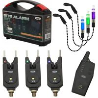 NGT Wireless Bite Alarms Set with Receiver 2 or 3 Alarms with Bite Indicators
