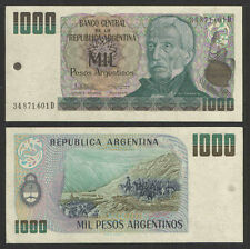 ARGENTINA 1984 1,000 PESOS CURRENCY P-317b UNCIRCULATED