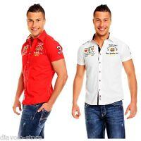 BAXBOY Hemd Freizeithemd Herren Polo Shirt Kurzarm slim fit Clubwear M L XL 105