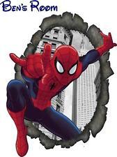 Wall art spiderman personnalisé personnalisé nom enfants chambre à coucher autocollant decals