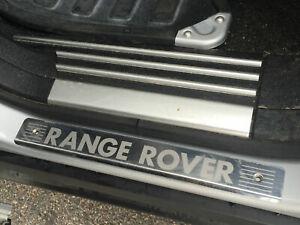 Range Rover L322 Genuine Door Sill Step Scuff Plate Guards Chrome