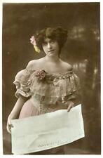 Vintage French Ladies RPPC postcard - FC022