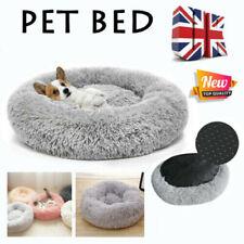 Warm Pet Dog Cat Calming Beds Comfy Round Fluffy Bed Nest Mattress Donut PadM-XL