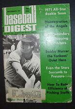 BASEBALL DIGEST  November 1971 Bobby Murcer on Cover 1971