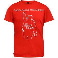 Rage Against The Machine - Battle Of Chicago Mens T-Shirt Red