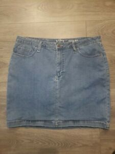 Riders By Lee Women's Midrise Skirt Denim Stretch Size 16