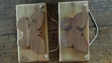 Antique reclaimed pine  plaque over 100 years old -- butterfly - chic