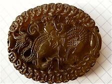 Colgante dragón chino jade marrón translúcido china China Medallón 中国 1