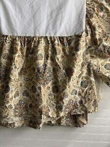 Ralph Lauren Marrakesh Rug Paisley Bedskirt Gold Navy Blue Cal King