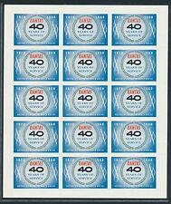 75802) Aufkleber Label sticker Australien Qantas 1920-1960, sheet of 15, rare