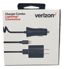Original Verizon Charger Combo Lightning Connectors For Apple/iPhone/iPad Black