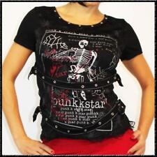 GOTHIC Spinnennetz Spitze T-SHIRT TOP Punk K. Star Skelett Punky shirt S-L
