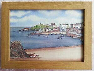 Tenby Harbour - Watercolour Painting - Tony Paultyn